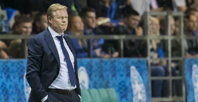 Bondcoach Estland verontschuldigt zich bij Koeman: 'Neem hem niets kwalijk'