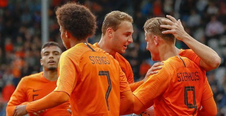 Jong Oranje komt achterstand te boven en trapt kwalificatie af met dikke zege