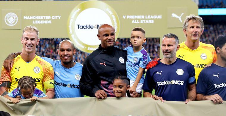 Kompany beleeft prachtige galamatch: broer en Anderlecht-spelers genieten mee