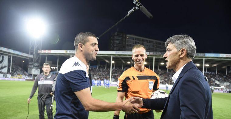 Fans van Sporting Charleroi tonen klasse met spandoek voor KRC Genk