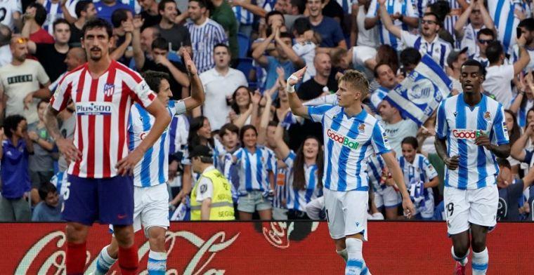 Odegaard bezorgt Atlético eerste nederlaag, Mertens matchwinnaar bij Napoli