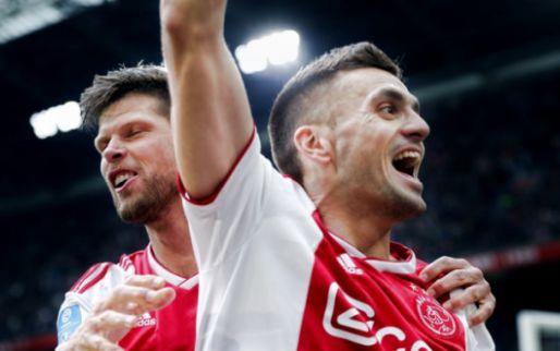 Afbeelding: Tadic claimt Ajax-treffer, maar moet wachten: 'Heb doelpunt aan Huntelaar gegeven'