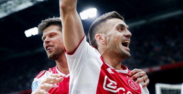Update: 'Claim' Tadic niet succesvol: Huntelaar krijgt Ajax-treffer op zijn naam