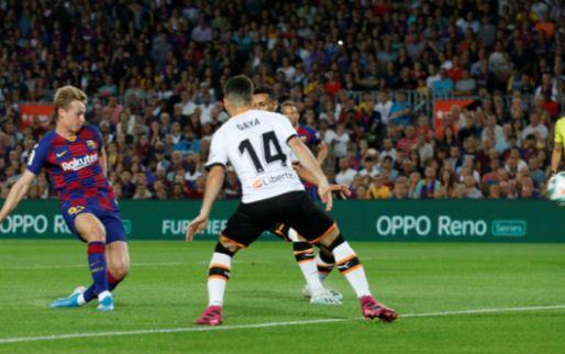 Afbeelding: De Jong na eerste Barcelona-goal: