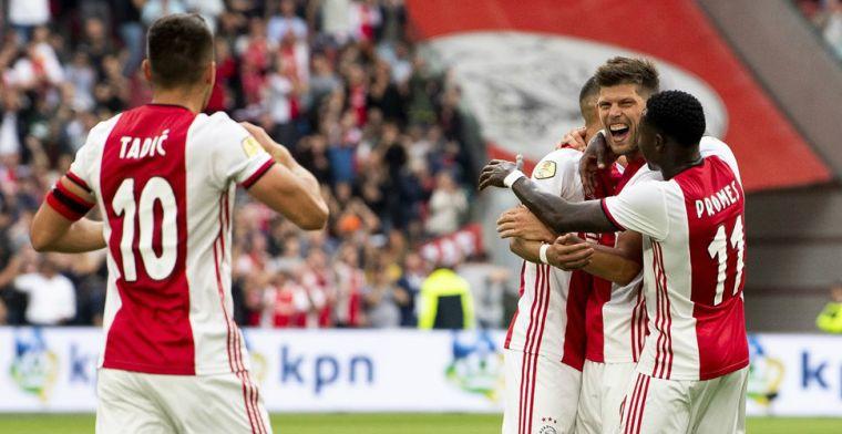 Eerste Ajax-goal aangekaart tijdens perspraatje: 'Weet ik toch niet? Kom op...'