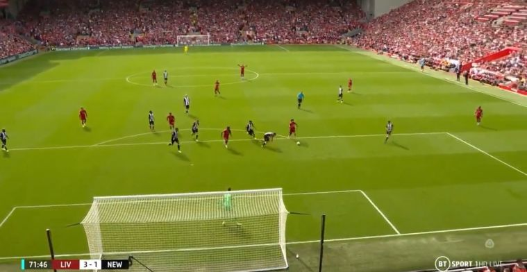 Mooi: Van Dijk heeft vooruitziende blik en juicht alvast voordat Salah scoort
