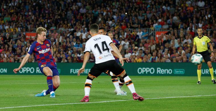 De Jong na eerste Barcelona-goal: Dus dan ben ik nu van het gezeur af