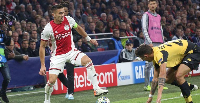 Tadic kritisch na ruime zege Ajax: 'Het was niet onze beste wedstrijd'