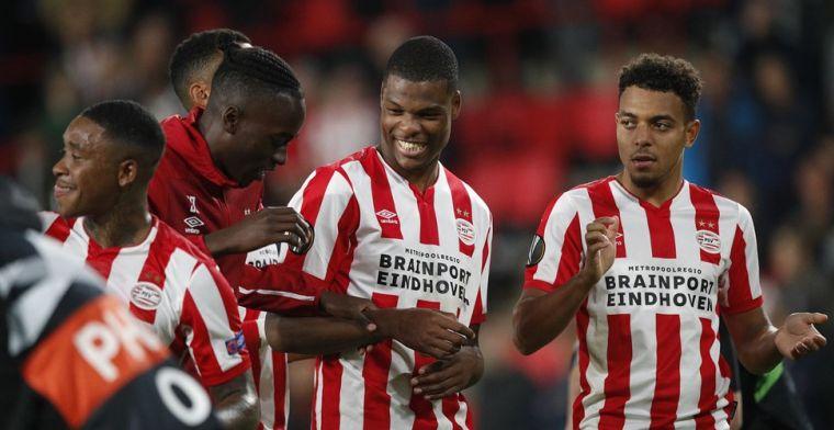 Dumfries na nipte zege PSV: 'Behoren niet tot de beste teams in Europa League'