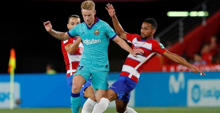 De Jong kan stempel weer niet drukken; Barcelona lijdt beschamende nederlaag
