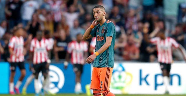 Ten Hag wilde Ziyech niet wisselen tegen PSV: 'Vandaar dat ik hem liet staan'