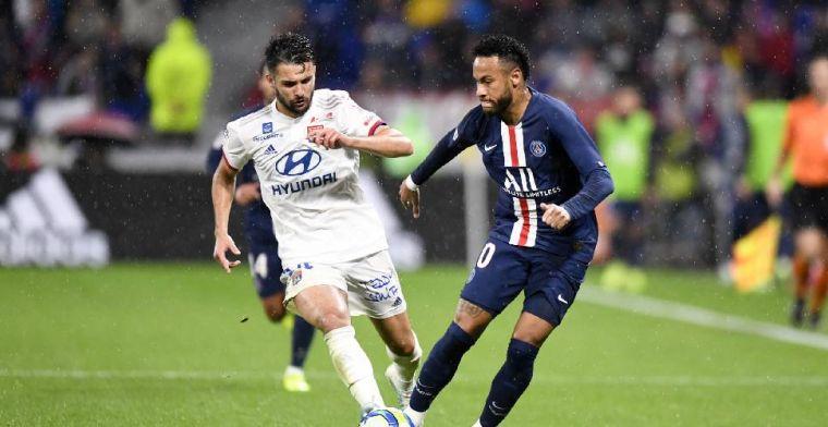 Neymar doet het weer: late goal levert PSG de zege op tegen Lyon