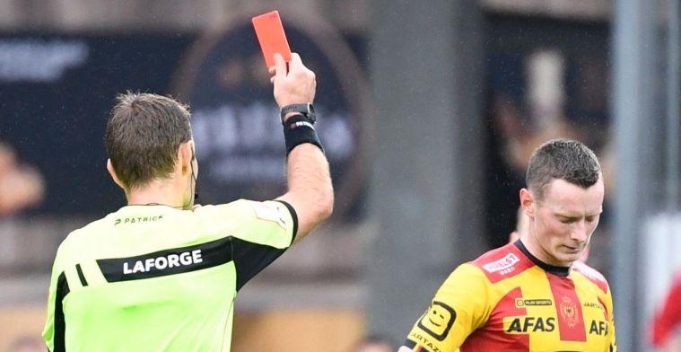 Schoofs geniet van fans, en excuseert zich na rode kaart tegen Club Brugge