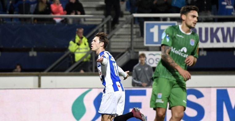 Heerenveen dankt Van Bergen en trakteert fans op eerste thuiszege
