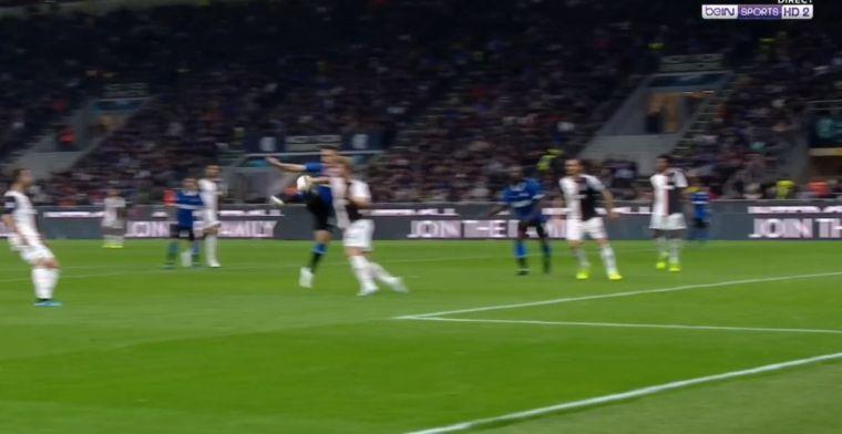 Opnieuw drama voor De Ligt: oliedomme handsbal levert Inter strafschop en goal op