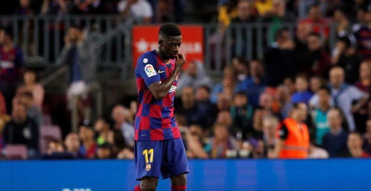 Update: Dembélé moet brommen en mist El Clásico tussen Barça en Real