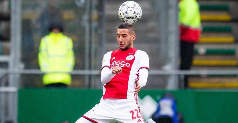 Ziyech gelukkig bij Ajax: 'Daarmee heb je een bepaalde relatie opgebouwd'
