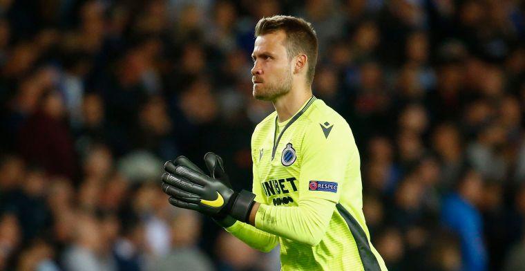 Club Brugge-fans zetten vader in spe Mignolet in de bloemen