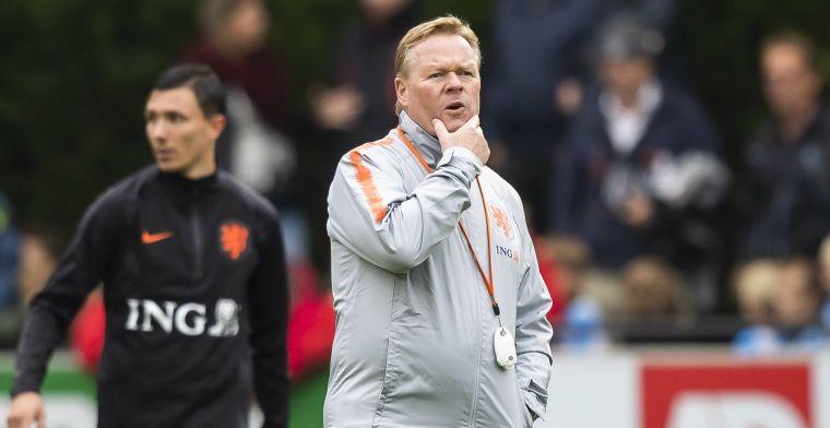 Koeman niet onder de indruk van Oranje-trainingen: 'Misschien gemakzucht'