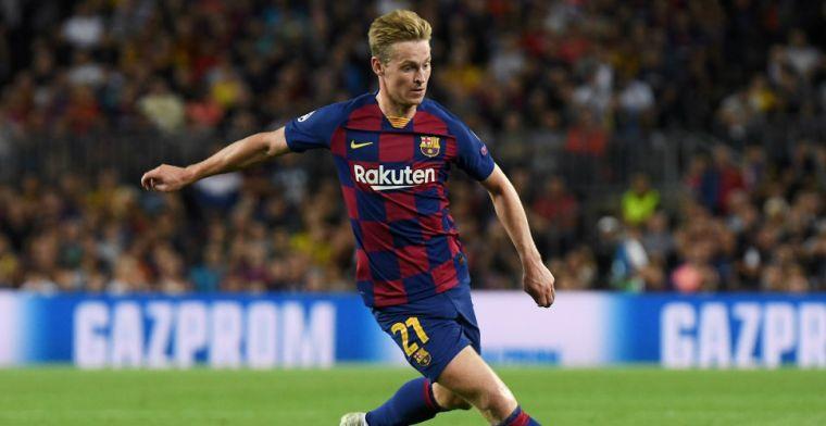 'Fysiek wonder' De Jong bij Barça: 'Zou deel kunnen nemen aan Olympische Spelen'