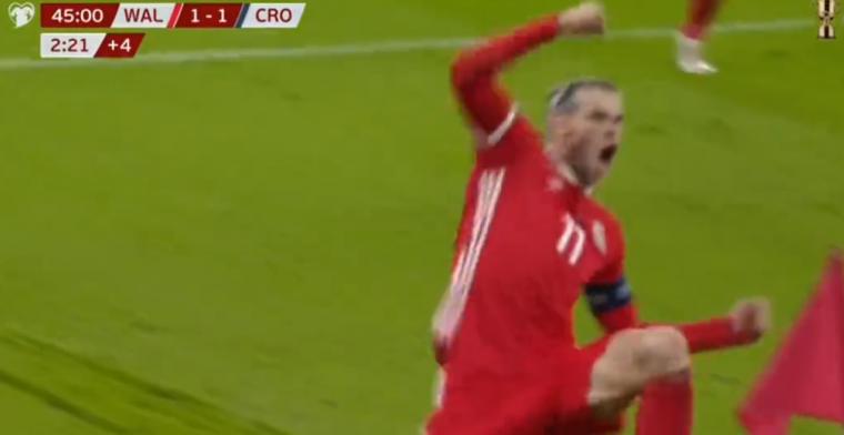 GOAL! Publiekslieveling Bale staat nog maar eens op bij zijn Wales!