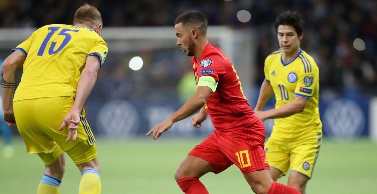 België sluipt op snipperdag naar drie punten door briljante assist Hazard