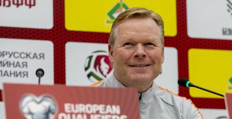 'Koeman wisselt back en middenvelder, Malen krijgt kans als spits van Oranje'