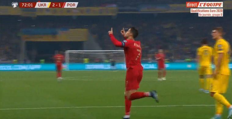 Ronaldo schiet penalty binnen in Kiev en bereikt mythische mijlpaal: doelpunt 700