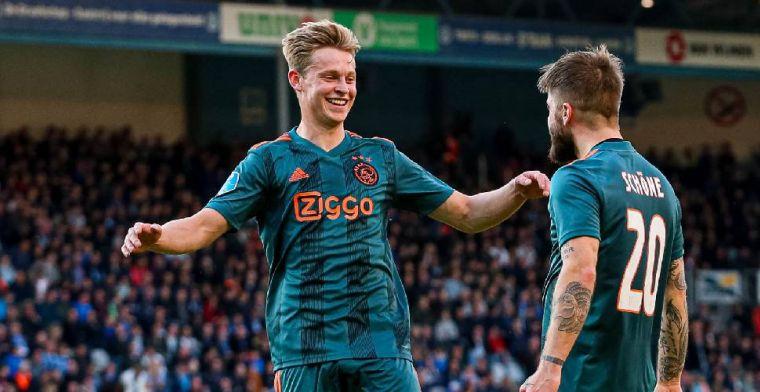 'Ajax, RKC, Willem ll krijgen dikke factuur van belastingdienst voor Frenkie-deal'