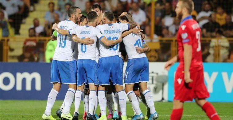Bondscoach Mancini: 'Italië komt steeds dichter bij niveau van EK-favoriet België'