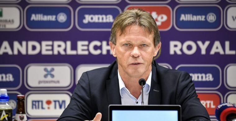 Vercauteren hint op meer ervaren pionnen bij Anderlecht: Je moet keuzes maken