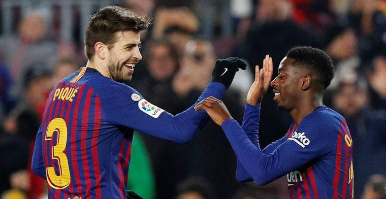 'Piqué en Dembélé doen mee met Catalaanse demonstratie en hoeven niet te trainen'
