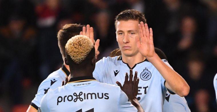 Club Brugge heeft aan één geldig doelpunt voldoende om Moeskroen te verslaan