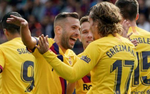 Afbeelding: Messi, Griezmann en De Jong leiden Barcelona naar eerste plek in Spanje