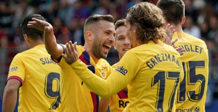 Messi, Griezmann en De Jong leiden Barcelona naar eerste plek in Spanje