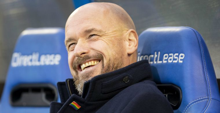 Ten Hag zoekt culttrainer op: We hebben heerlijk over voetbal zitten lullen