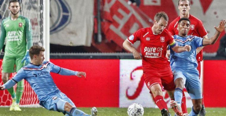 Twente slikt tegen Willem II vierde nederlaag op rij en zakt steeds verder weg