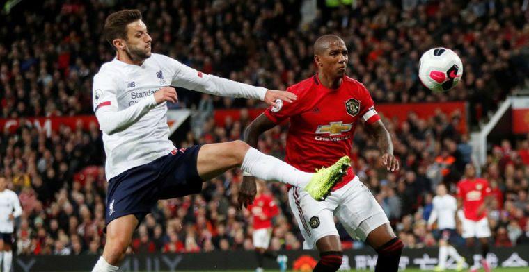 Liverpool dankt supersub Lallana op Old Trafford, maar is maximale score kwijt