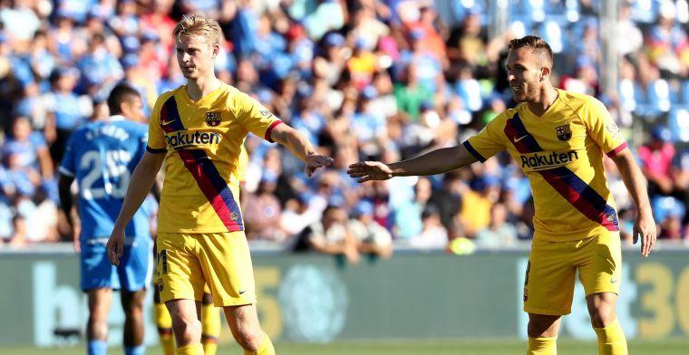 Barça-coach Valverde maakt buiging: 'De Jong heeft een enorme potentie'