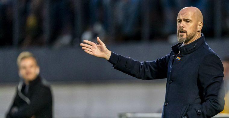 Ten Hag waarschuwt Ajax: 'Heel goed aan de bal zijn en daar niet in meegaan'