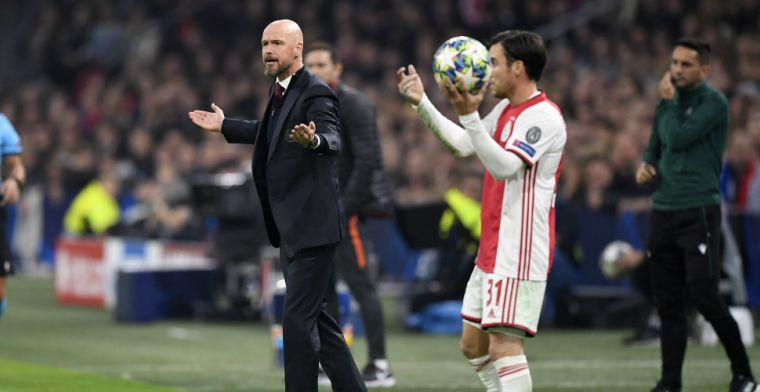 Ten Hag verrast over afgekeurde goal Promes: 'Dacht dat hij erachter weg kwam'
