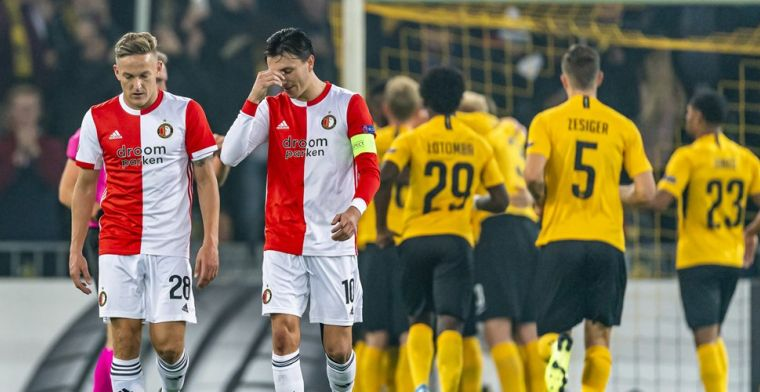 Feyenoord komt dramatische start niet te boven en zakt naar laatste plaats
