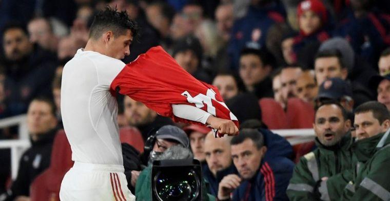 Geen steun voor Xhaka na ruzie met Arsenal-fans: 'We spelen voor onze supporters'