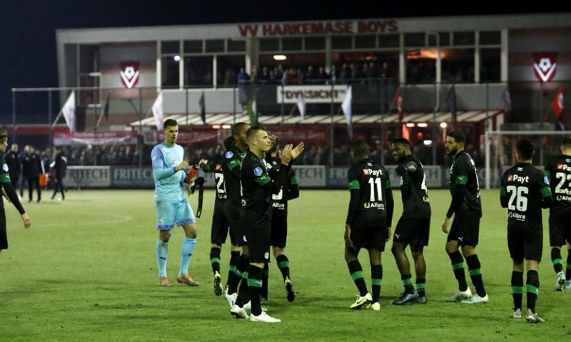 Afbeelding: Debuut van doelman Hoekstra verstoord: 'Ik keek naar de bal en hoorde een knal'