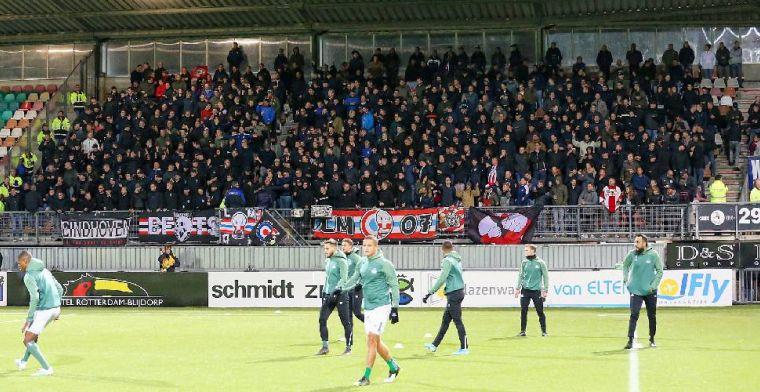 Supporters PSV boycotten wedstrijd tegen Emmen: 'Wordt door ons niet geaccepteerd'