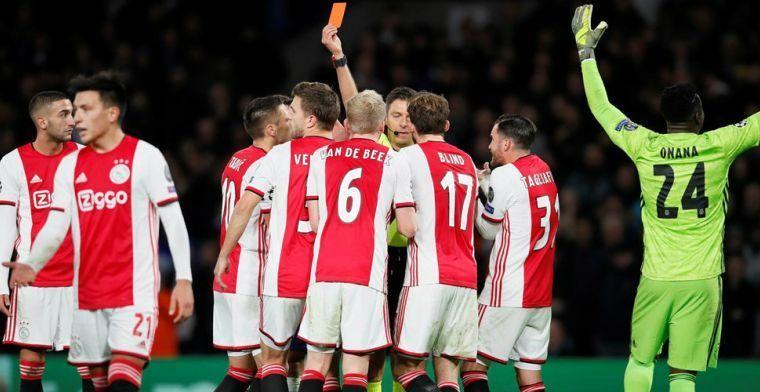 Nijhuis analyseert cruciale rode kaarten Ajax: 'Bij UEFA ligt dat heel hoog'