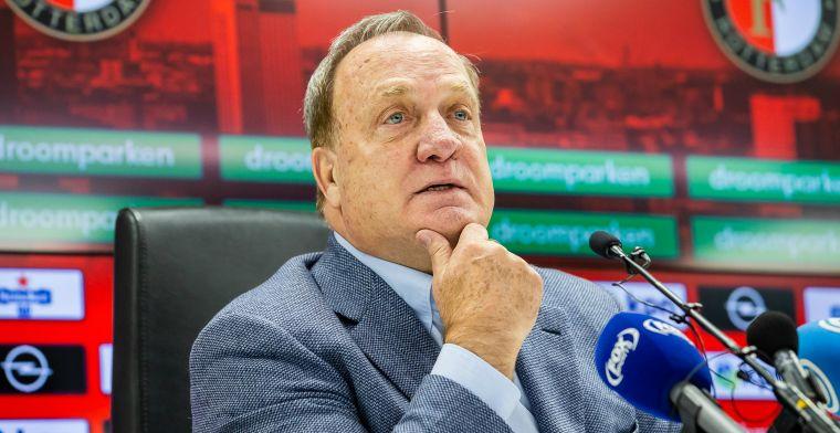 Advocaat verbijsterd door Feyenoord:'Leek wel of we bij een crematie waren'