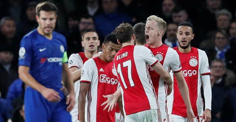 Engelse pers:'Ajax was bij vlagen briljant, maar drukte de zelfdestructieknop in'