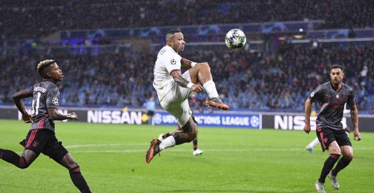 Zorgen voor Lyon én Oranje: Memphis loopt mogelijk spierscheuring op