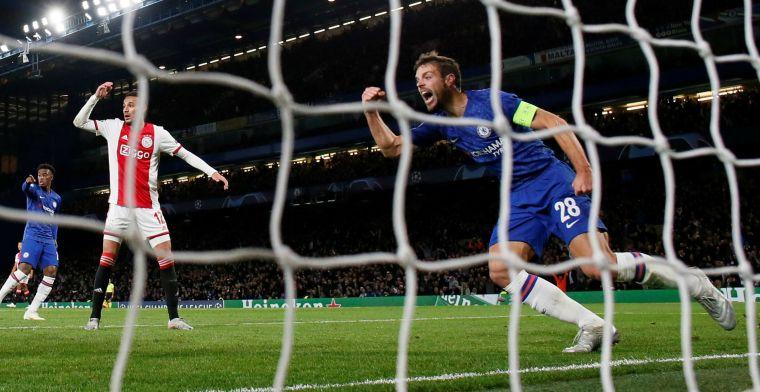 Ophef over'buitenspelgoal' Chelsea tegen Ajax:'Bizar genoeg geen lijn'